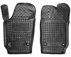 Коврики в салон передние для Volkswagen Polo '09-17 хетчбек резиновые, черные (AVTO-Gumm)