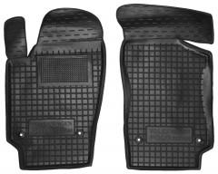 Коврики в салон передние для Volkswagen Polo '10- седан резиновые, черные (AVTO-Gumm)