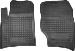 Коврики в салон передние для Volkswagen Touareg '02-09 резиновые, черные (AVTO-Gumm)