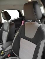 Авточехлы Leather Style для салона Focus III '11-, хетчбек, серые вставки (MW Brothers)