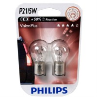 Автомобильная лампочка Philips VisionPlus P21/5W 12V 21/5W (комплект: 2 шт.)