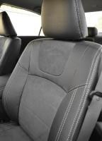 Фото 3 - Авточехлы Leather Style для Honda Accord '13-17 серая строчка (MW Brothers)