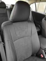 Фото 5 - Авточехлы Leather Style для Honda Accord '13-17 серая строчка (MW Brothers)