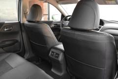 Фото 6 - Авточехлы Leather Style для Honda Accord '13-17 серая строчка (MW Brothers)
