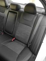 Фото 8 - Авточехлы Leather Style для Honda Accord '13-17 серая строчка (MW Brothers)