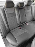 Фото 10 - Авточехлы Leather Style для Honda Accord '13-17 серая строчка (MW Brothers)