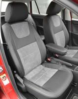 Авточехлы Leather Style для Skoda Rapid '13- (MW Brothers)