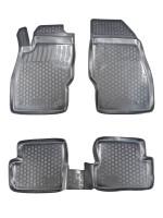 Коврики в салон для Opel Corsa D '06-14 полиуретановые, черные (L.Locker)