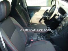 Авточехлы Premium для салона Toyota Aygo '05-14 красная строчка (MW Brothers)