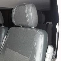 Авточехлы Premium для салона Volkswagen Transporter T5 '03-15, пассажирский (8 мест), красная строчка (MW Brothers)