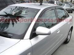 Дефлекторы окон для Audi A4 '00-05, седан (Hic)