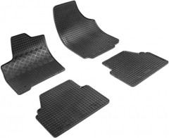 Коврики в салон для Opel Meriva '03-09 резиновые, черные (Rigum)