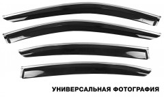 Дефлекторы окон для BMW X5 F15 '14-, с хром. молдингом (Hic)