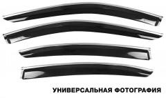 Дефлекторы окон для Kia Optima '10-, с хром. молдингом (Hic)