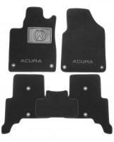 Коврики в салон для Acura ZDX '09-13 текстильные, черные (Люкс)