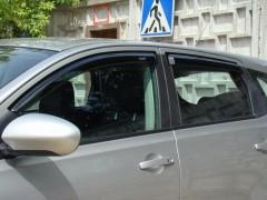 Фото 1 - Дефлекторы окон для Nissan Qashqai '06-14, 4шт. (Hic)