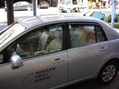 Дефлекторы окон для Nissan Tiida '05-, седан (Hic)