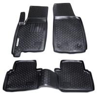 Коврики в салон для Opel Meriva '03-09 полиуретановые, черные (L.Locker)
