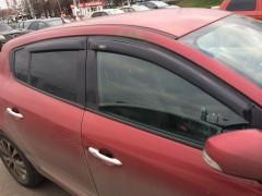 Дефлекторы окон для Renault Megane '08-16, хетчбек/универсал, 4шт. (Hic)