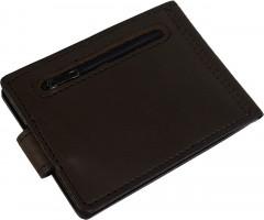 Фото 2 - Зажим для денег темно-коричневый, без логотипа
