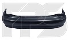 Задний бампер Daewoo Lanos / Sens '98- Седан, черный, без шины (T150) (FPS)
