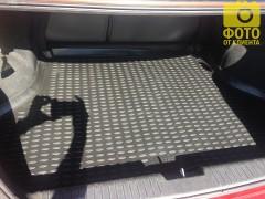 Фото 5 - Коврик в багажник для Chevrolet Lacetti '03-12 седан, полиуретановый (Novline) черный