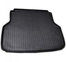 Коврик в багажник для Chevrolet Lacetti '03-12 универсал, полиуретановый (Novline / Element) черный