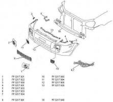 Крепеж переднего бампера Hyundai Tucson '03-09 левый (FPS)