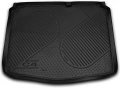 Коврик в багажник для Citroen C4 '05-09, полиуретановый (Novline / Element) черный