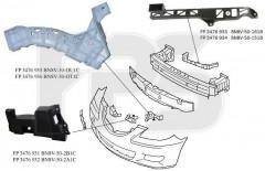 Крепеж переднего бампера Mazda 3 '04-09 Седан, правый, пластмас., 1 см. рис. (FPS)