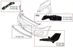 Кронштейн переднего бампера Hyundai Accent (Solaris) '11-17 правый, возле крыла (FPS)