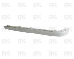 Накладка заднего бампера Mercedes E-Class W211 '02-06 правая с хром молдингом (FPS)