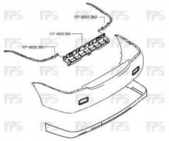 Направляющая заднего бампера Mitsubishi Lancer 9 '04-09 правая (FPS)