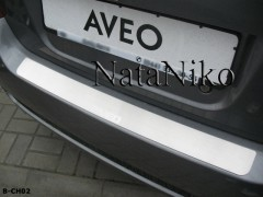 NataNiko Накладка на бампер для Chevrolet Aveo '08-11 Хетчбек (Premium)
