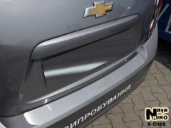 NataNiko Накладка на бампер для Chevrolet Aveo '11- Хетчбек (Premium)