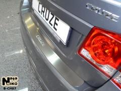 NataNiko Накладка на бампер для Chevrolet Cruze '11-16 Хетчбек (Premium)