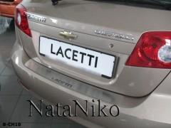 NataNiko Накладка на бампер для Chevrolet Lacetti '03-12 Хетчбек (Premium)