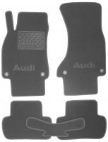Коврики в салон для Audi A4 '08-15 текстильные, серые (Люкс) 4 клипсы
