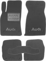 Коврики в салон для Audi A6 '97-05 текстильные, серые (Люкс) 8 клипс