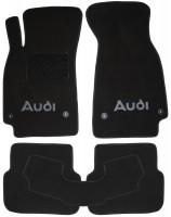 Коврики в салон для Audi A6 '05-10 текстильные, черные (Люкс) 4 клипсы