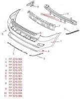 Спойлер заднего бампера Hyundai Santa Fe '06-10 CM без парктроника (FPS)