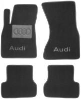 Коврики в салон для Audi A7 '10- текстильные, черные (Люкс)