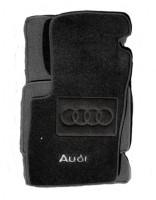 Коврики в салон для Audi A8 '03-10 текстильные, черные (Люкс)