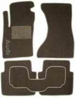 Коврики в салон для Audi A8 '03-10 текстильные, серые (Люкс)