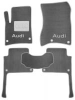 Коврики в салон для Audi Q7 '05-14 текстильные, серые (Люкс) 8 клипс