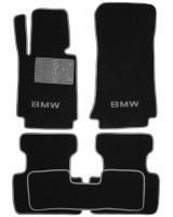 Коврики в салон для BMW 3 E46 '98-06 текстильные, серые (Люкс)