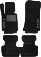 Коврики в салон для BMW 3 E46 '98-06 текстильные, черные (Люкс)