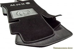 Коврики в салон для BMW 1 E87 '04-12 текстильные, черные (Люкс)