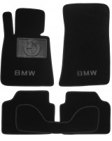 Коврики в салон для BMW 3 E90 '05-11 текстильные, черные (Люкс)