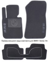 Коврики в салон для BMW 6 E63 '03-11 текстильные, серые (Люкс)